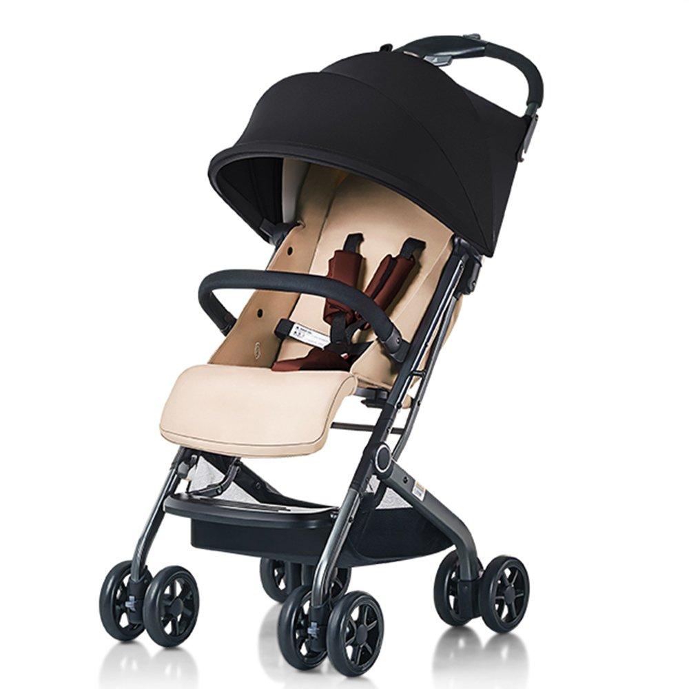 LVZAIXI バイク双子のベビーベビーカーは 即出荷 赤ちゃんの子供のトロリーのサイズを倍にするために座ることができます双方向ショックの折り畳み横に横たわって環境保護材料 色 ぶらうん B07CG4QS6X 送料無料お手入れ要らず ブラウン :