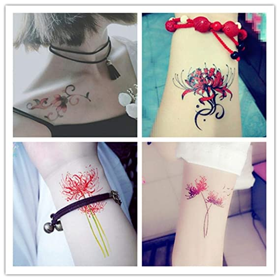 30 pegatinas de flores de tobillo de clavícula Bianhua flor de ...