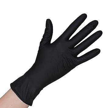 S//7 schwarz Einmalhandschuhe 100 Nitrilhandschuhe Gr Einweghandschuhe