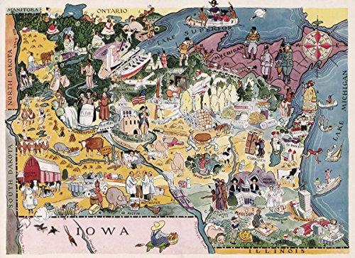 Wisconsin Antique Map (1932 National Atlas | Minnesota. Wisconsin. | Antique Vintage Map Reprint)
