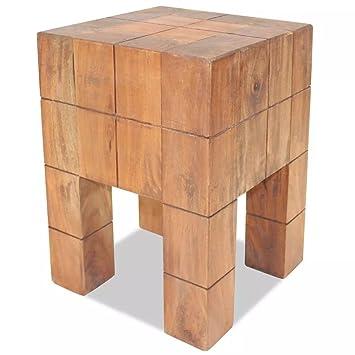 Amazon.com: Festnight Vintage Wood Stool, Retro-Style ...