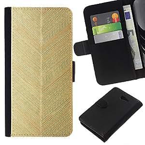 EJOY---La carpeta del tirón la caja de cuero de alta calidad de la PU Caso protector / Sony Xperia M2 / --chevron de oro patrón de la hoja del papel pintado