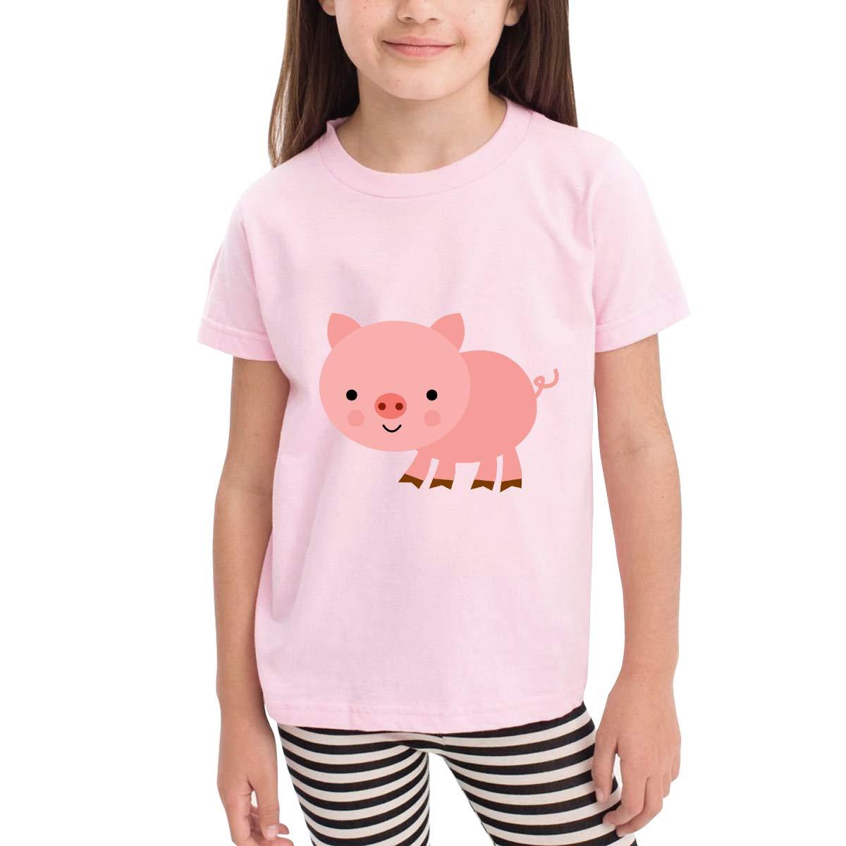 Cute Pink Pig 100/% Cotton Toddler Baby Boys Girls Kids Short Sleeve T Shirt Top Tee Clothes 2-6 T