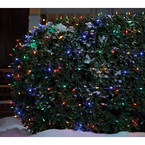 Home Accents Holiday 4ft x 6ft - 300 LED Mini Multicolored Net Lights - Super Bright - Continuous ON