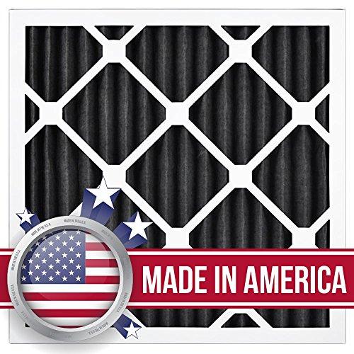 AirXフィルター臭気16x 16x 1エアフィルタMERV 8AC炉プリーツエアフィルタ交換用ボックスof 12, Made in the USA