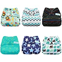 Mama Koala One Size Baby Cloth Pocket Diapers, Adjustable Washable And Reusab...