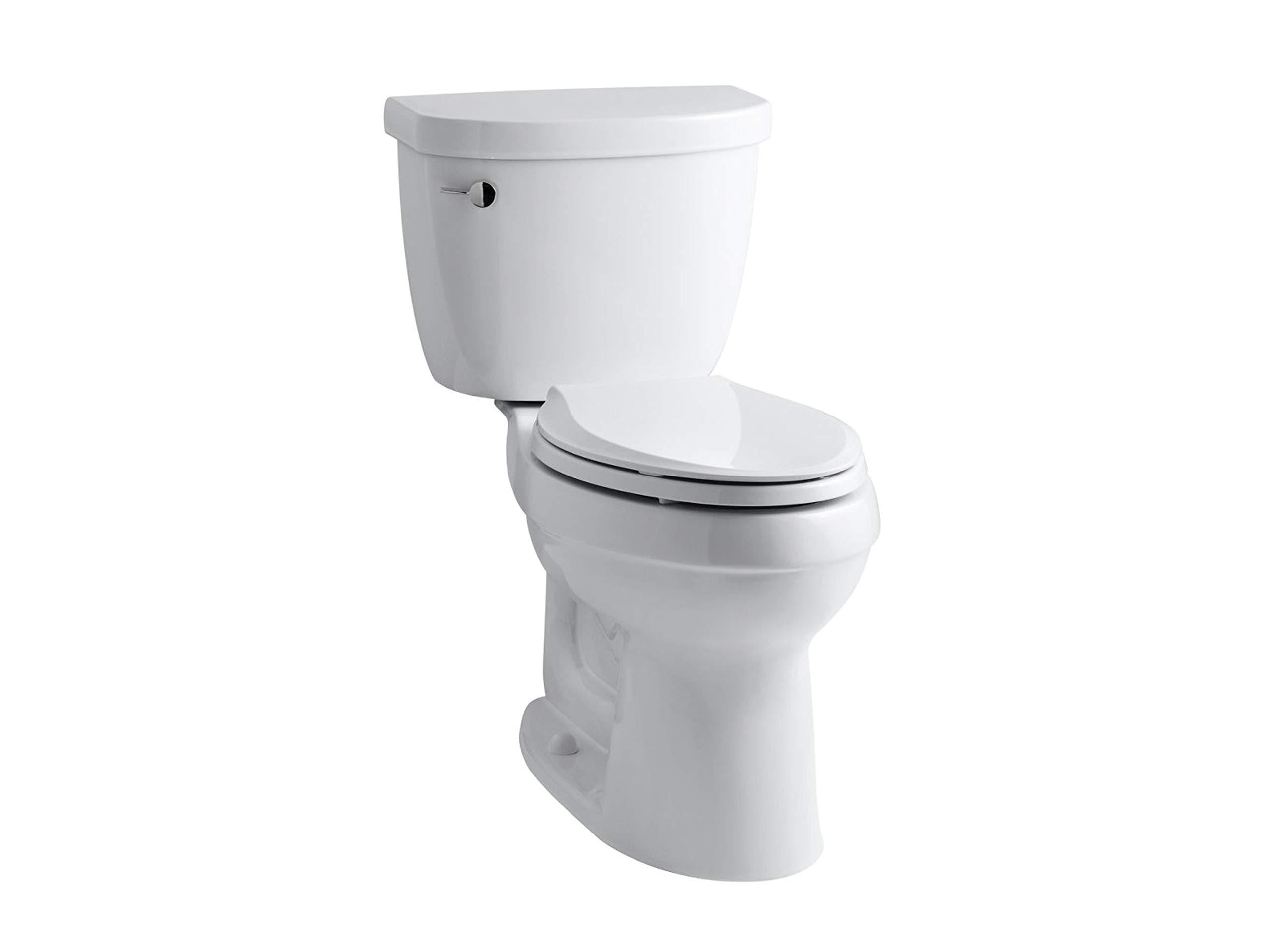 Kohler K-3589-0 Cimarron Comfort Height Elongated 1.6 gpf Toilet with AquaPiston Technology, Less Seat, White by Kohler