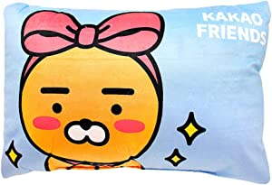 "Kakaotalk Kakao Friends 18"" Home Decor Soft Rectangle Back Seat Cushion Pillow 1PC (Ribbon Ryan)"
