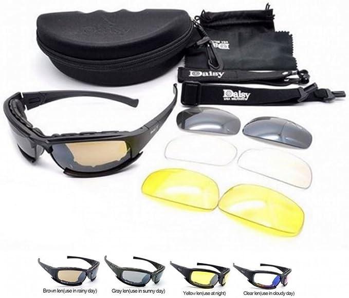 ARUNDEL SERVICES EU Nuevo Daisy X9 Polarizado Ejército táctico Militar ejército Gafas al Aire Libre Gafas 4 lentas Gafas de Sol Gafas de Sol para ...