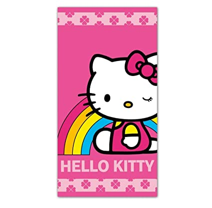 Toalla de Playa Arco Iris Hello Kitty