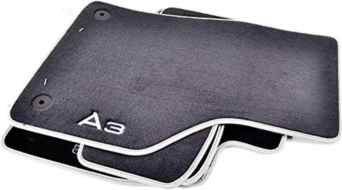 Audi 8v1061271emno Textilfußmatte Premium Vorne Hinten Schwarz Silbergrau A3 4 Stück Auto