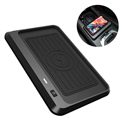 CarQiWireless Wireless Phone Charger for Land Rover Discovery Sport 2015-2020,Center Console Wireless Charging Pad Mat for Land Rover Discovery Sport Accessory for All QI Enabled Phone - Fast Charger