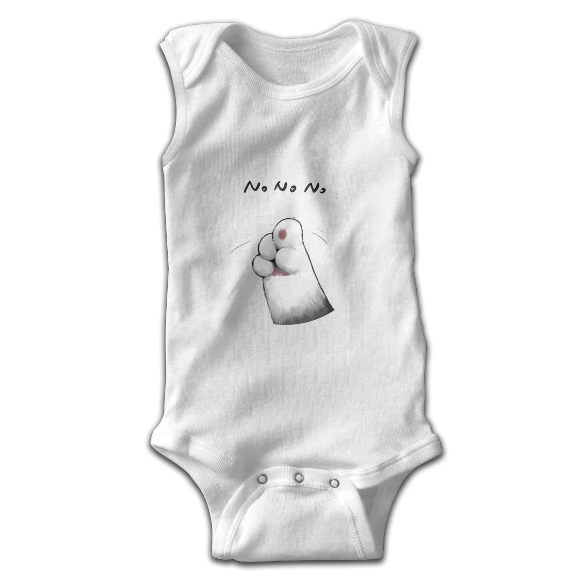 Cat No Gestures Smalls Baby Onesie,Infant Bodysuit Black