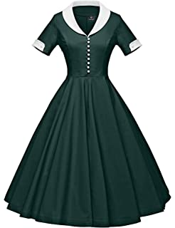 af3d311c4b Amazon.com: H&R London 50's Housewife Dress Black White Big Polka ...