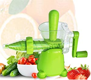 YVX Manual Wheatgrass Juicer Kale Spinach Parsley Fruit and Any Other Leafy Green (Color : Green, Size : Free Size)