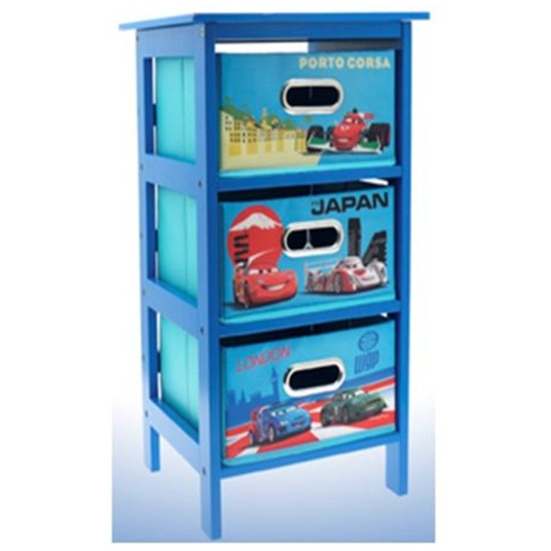 Disney Cars 2 Storage Cabinet 3 Drawer Bedroom Toys Cloths Kids Blue Furniture Amazon Co Uk Kitchen Home