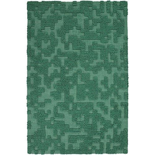 Surya STN1005-23 Stencil Area Rug, 2' x 3', Emerald/Kelly Green (Kelly Green Area Rug)