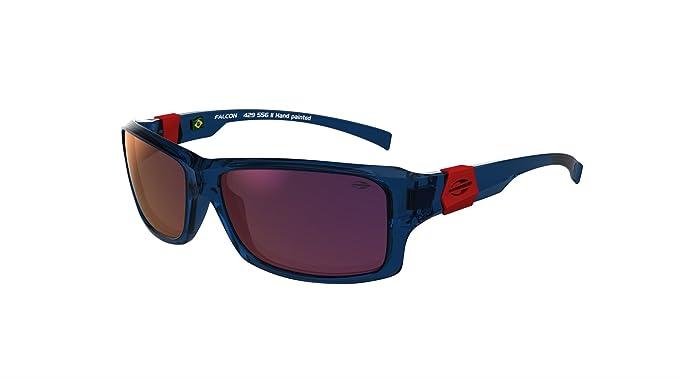 Gafas de Sol Falcon Mormaii azul brillo con logo rojo  Amazon.es  Ropa y  accesorios 41b39c677b