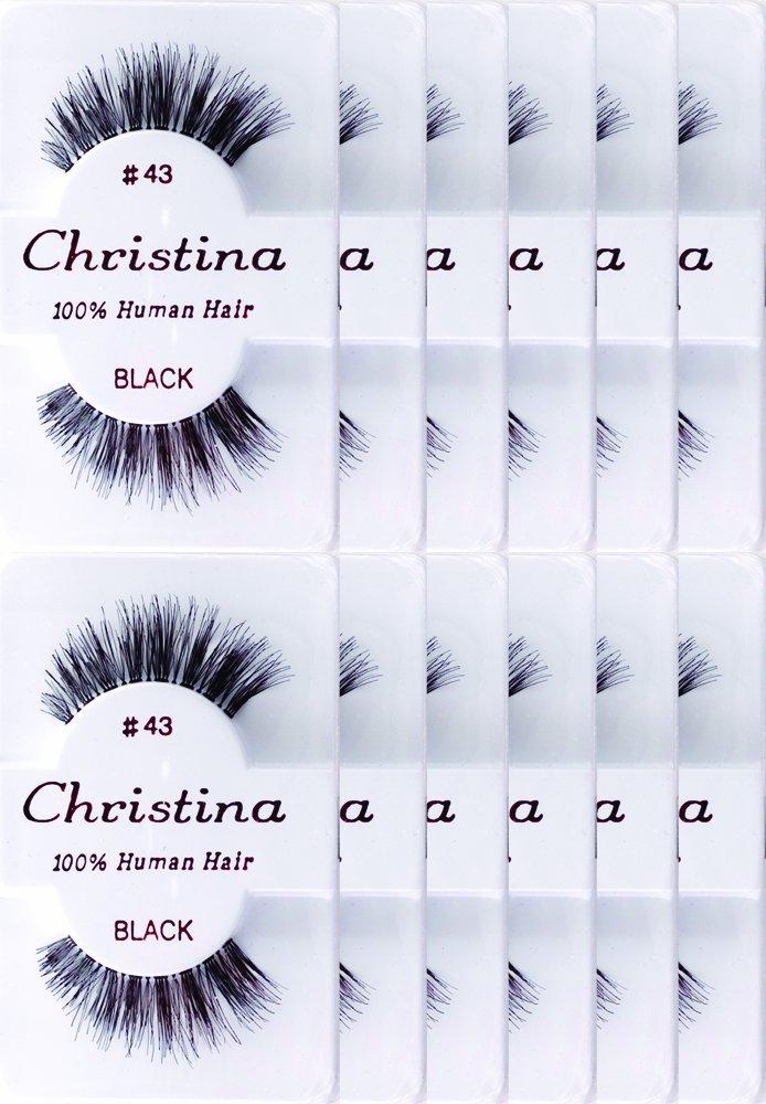 12packs Eyelashes - #43 by Christina by Christina