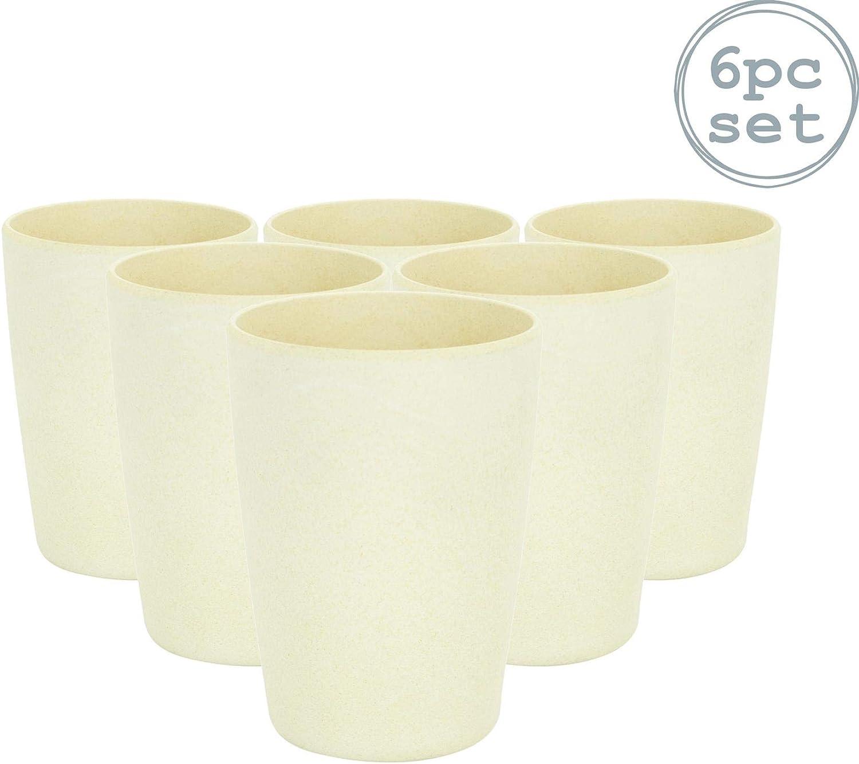 Rink Drink Vaso Reutilizable y ecológico para Fiestas - Bambú - 350 ml - Pack de 6
