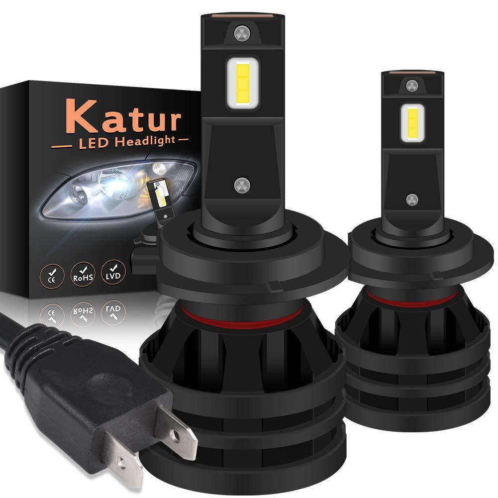 KaTur H8 H9 H11 Lampadine per fari a LED Mini Design Upgrade di Chip CREE 12000 Lumen Kit di conversione del Faro all-in-One LED Completo 55W 6500K Xenon White-2 Years Waranty