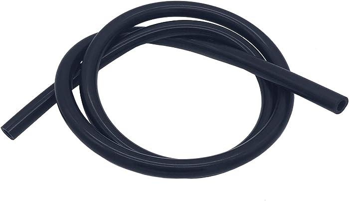 Ucreative 5FT High Temperature Silicone Vacuum Tubing Hose Black (3/8'' (10mm))