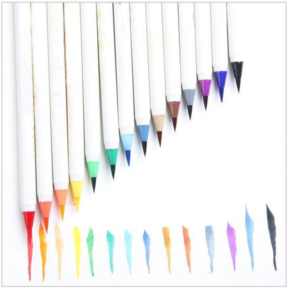 Meapann - Juego de 20 pinceles de caligrafía caliente, caliente, caligrafía coloridos y suaves, marcadores de pinceles de pintura para acuarela ec3715