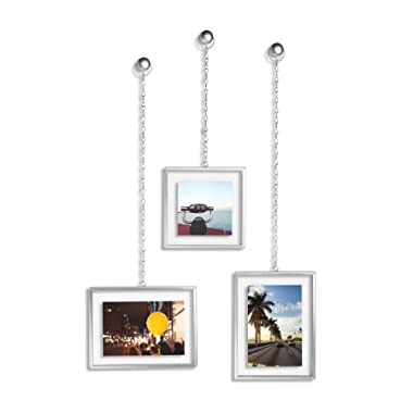 Umbra Fotochain Picture Frames, Set of 3, Nickel