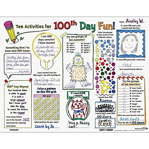 ReadyToDecorate Ten Activities for 100th Day Fun Posters