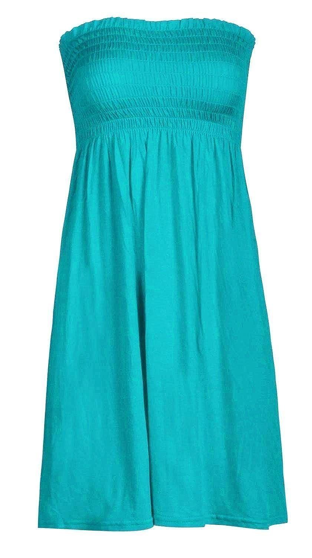 43bd1997ac Mix lot new women's sheering boobtube bandeau strapless/sleeveless plain  top ladies sexy summer beach dress top small medium plus size casual wear  size 8-22 ...