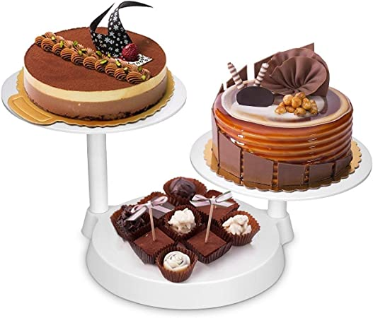 Uten 3 Tiers Cake Decorate Display Stand 3 Plates Cake Support Stand For Birthday Wedding Party Cake Decoration And Presentation Amazon Co Uk Kitchen Home