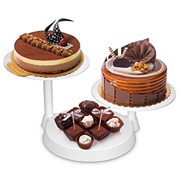3702e81fd1 Uten 3 Tiers Cake Decorate Display Stand, 3 Plates Cake Support Stand for  Birthday Wedding Party Cake Decoration and Presentation