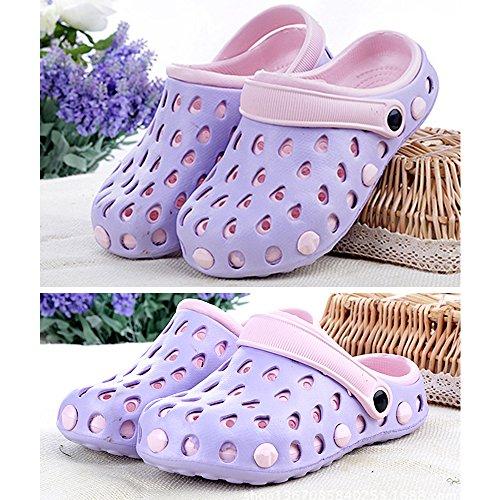 Eastlion EVA Paar Strand Garten Schuhe Sommer Mode Beiläufige halbe Hausschuhe für Liebhaber Weiblich Stil 1 Violett
