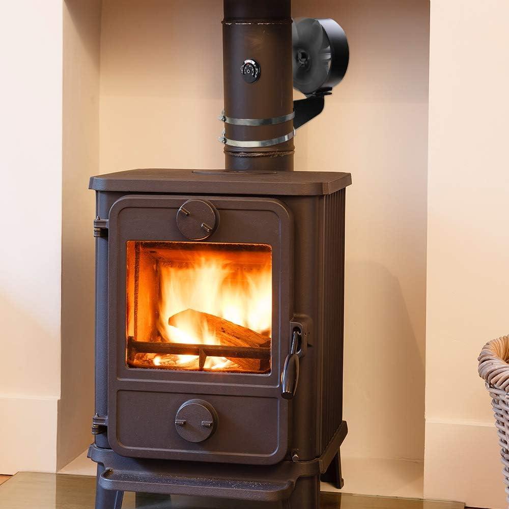 FEPITO Ventilador de estufa de tubo de combustión con ventilador ...