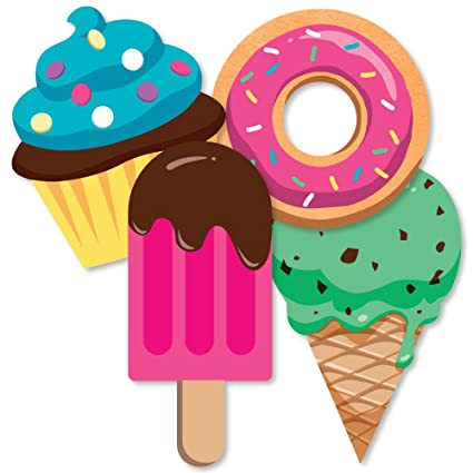 Amazon Com Sweet Shoppe Donut Ice Cream And Cupcake Decorations