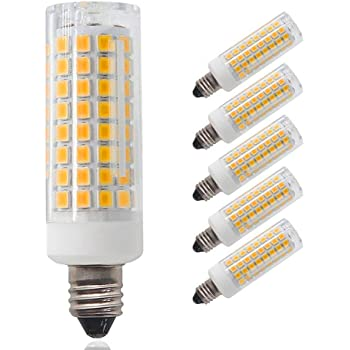 pack of 5 e11 led bulb dimmable mini candelabra base 75w 100w equivalent halogen repalcement. Black Bedroom Furniture Sets. Home Design Ideas