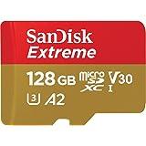 マイクロSD 128GB サンディスク Extreme microSDXC A2 SDSQXA1-128G 海外パッケージ品