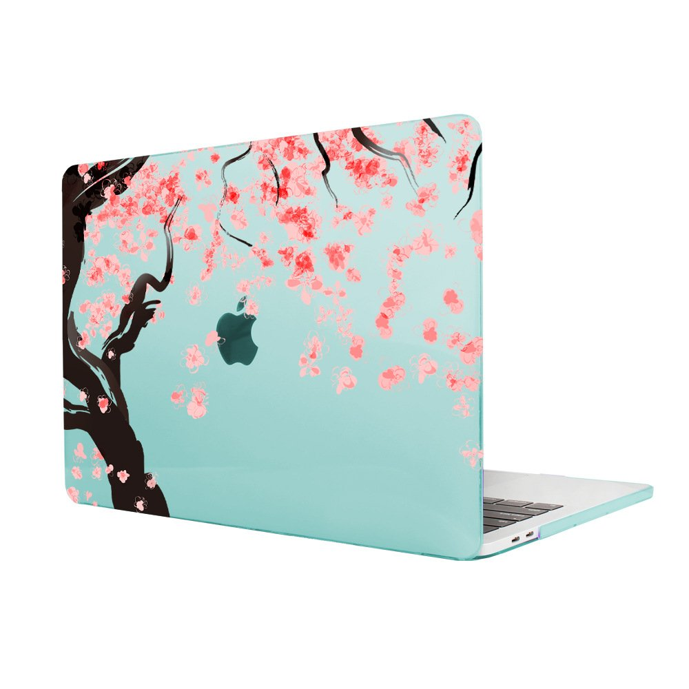 Womens Fashion MacBook Air 11 Case Batianda Beautiful Cherry Blossoms Design Frosted Hard Cover Protective Case for MacBook Air 11.6 inch ...