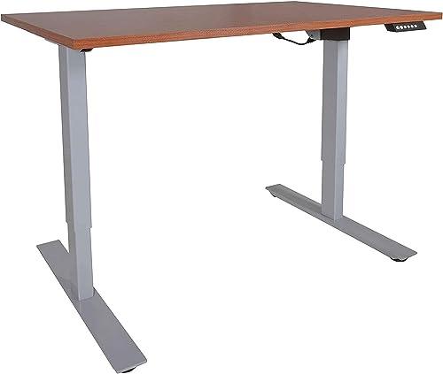 Best home office desk: Titan Fitness A2 Single Motor Sit/Stand Desk w/Wood 30″x48″ Top Conversion