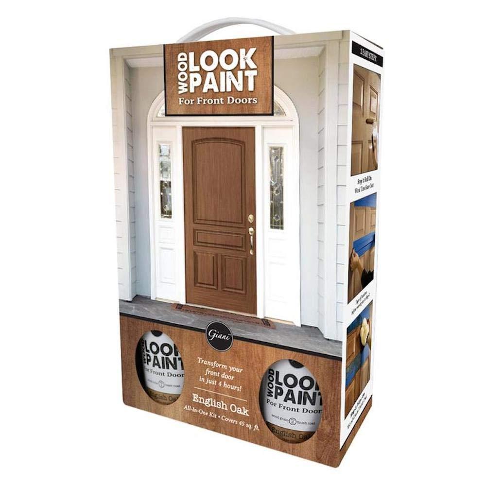 Giani Wood Look Paint Kit For Front Interior Doors Black Walnut