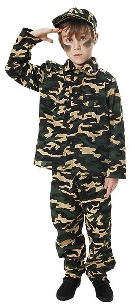es de Amazon 029 para HNB talla soldado niño Disfraz Army U24 L fqPn1
