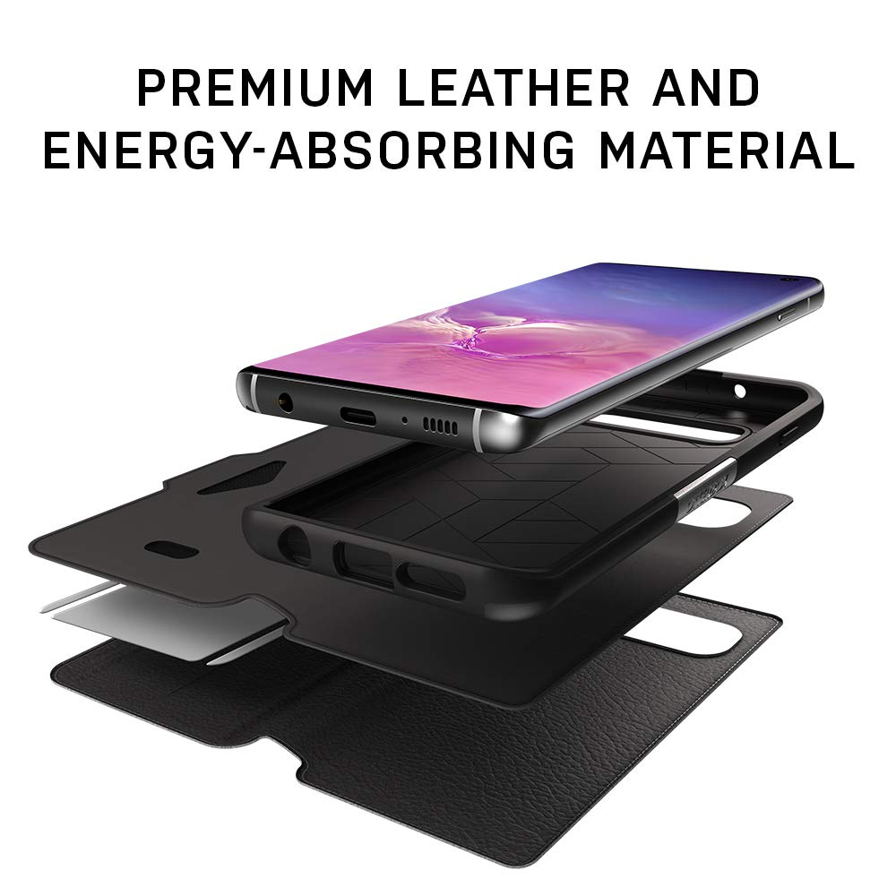 OtterBox STRADA SERIES Case for Galaxy S10+ - Retail Packaging - ESPRESSO (DARK BROWN/WORN BROWN LEATHER) by OtterBox (Image #7)