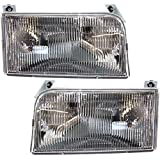 92 f150 headlight assembly - Evan-Fischer EVA13572054828 Headlight Set Of 2 For F-Series 92-97 Right and Left Side Assembly Halogen