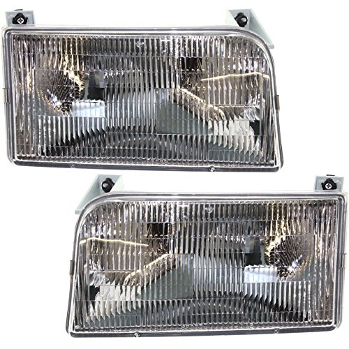 Evan-Fischer EVA13572054828 Headlight Set Of 2 For F-Series 92-97 Right and Left Side Assembly Halogen