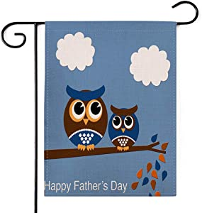 PINCHUANG Happy Father's Day Garden Flag - Double Sided Home Decorative Love Yard Burlap Banner