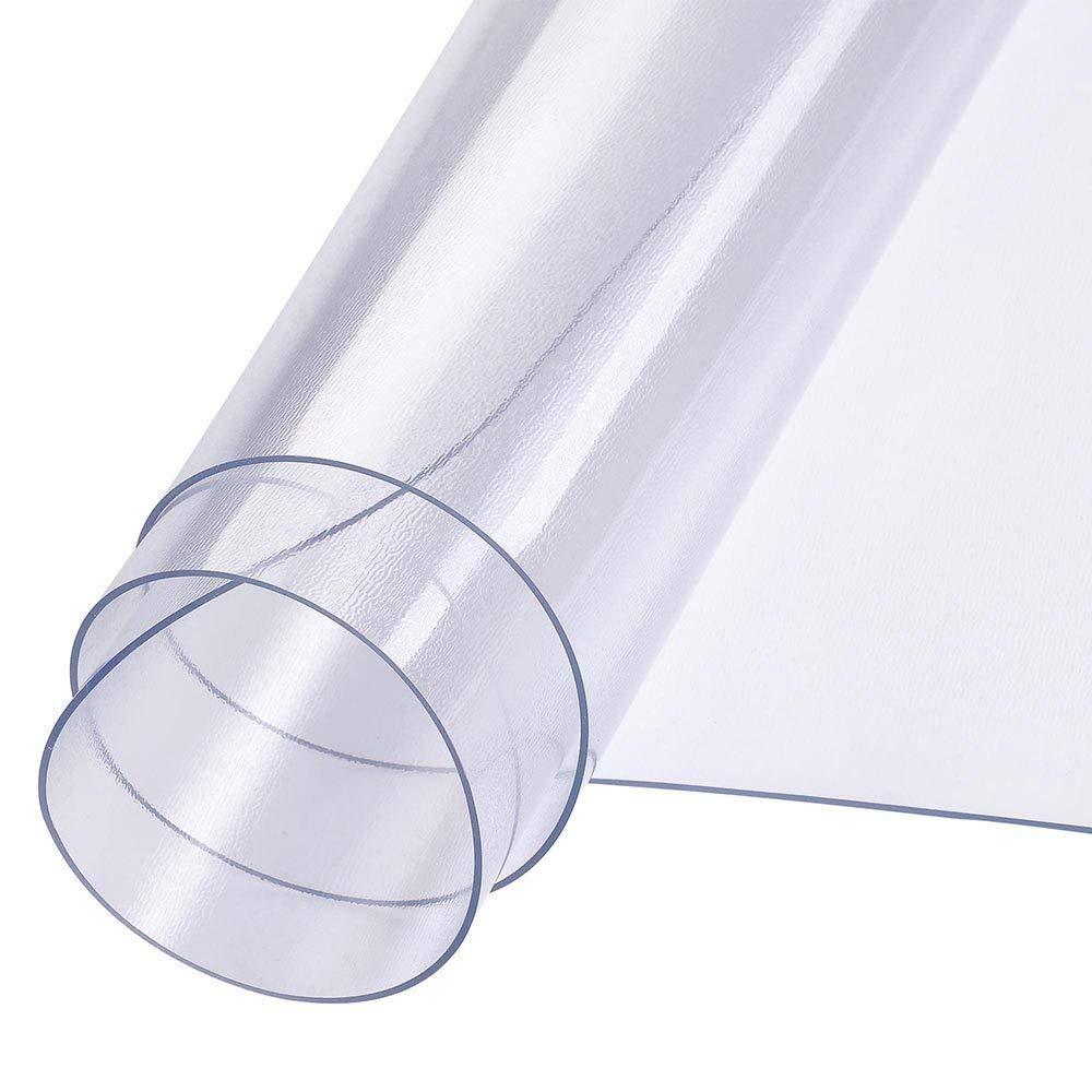 長方形 クリア PVC ハードウッド フロアマット プロテクター 耐久性 耐摩耗性 48インチ x 36インチ リビングルーム キッチン 寝室 ホーム オフィス   B07HVT7CMQ