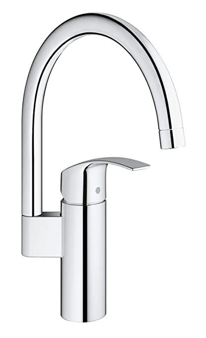 Amazon.com: GROHE 33202002 Eurosmart Kitchen Tap, High Spout: Home ...