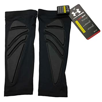 UNDER ARMOUR MENS GAME DAY PADDED FOREARM SHIVER PAIR BLACK PAIR LARGE  X-LARGE ffc0ea2d6