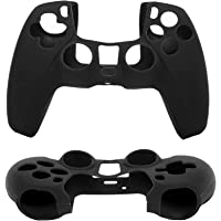 1pcs Silica Gel Protective Covers Goppleproof Silicone Case compatible with Playstation 5 Controller (black)