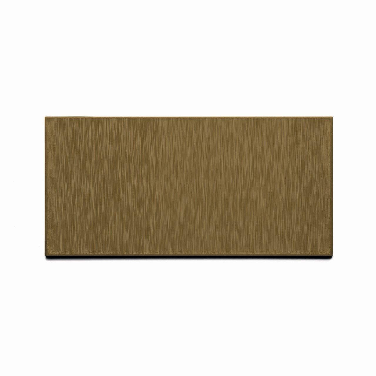 - Aspect Peel And Stick Backsplash Brushed Bronze Short Grain Metal